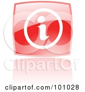 Royalty Free RF Clipart Illustration Of A Shiny Red Square Info Web Browser Icon by cidepix