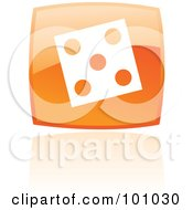 Royalty Free RF Clipart Illustration Of A Square Orange Dice Icon by cidepix