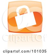 Royalty Free RF Clipart Illustration Of A Shiny Orange Square HTTPS Web Browser Icon by cidepix