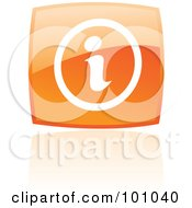 Royalty Free RF Clipart Illustration Of A Shiny Orange Square Info Web Browser Icon by cidepix