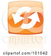 Royalty Free RF Clipart Illustration Of A Shiny Orange Square Refresh Web Browser Icon by cidepix