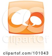 Royalty Free RF Clipart Illustration Of A Shiny Orange Square Email Web Browser Icon by cidepix