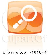 Royalty Free RF Clipart Illustration Of A Shiny Orange Square Search Web Browser Icon by cidepix