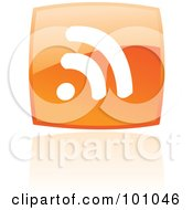 Royalty Free RF Clipart Illustration Of A Square Orange RSS Logo Icon by cidepix