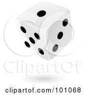 Royalty Free RF Clipart Illustration Of A Floating Black And White Dice 2 by cidepix