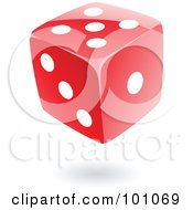 Royalty Free RF Clipart Illustration Of A Floating Red Dice by cidepix