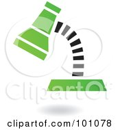 Royalty Free RF Clipart Illustration Of A Green And Black Desk Lap Logo Icon
