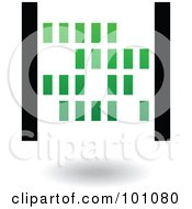Royalty Free RF Clipart Illustration Of A Green And Black Abacus Logo Icon by cidepix