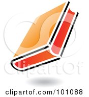 Royalty Free RF Clipart Illustration Of A Black And Orange School Book Icon Logo