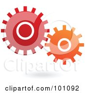 Royalty Free RF Clipart Illustration Of Red And Orange Mechanical Gears