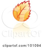 Royalty Free RF Clipart Illustration Of An Orange Autumn Leaf Logo Icon 6 by cidepix