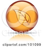 Royalty Free RF Clipart Illustration Of An Orange Autumn Leaf Logo Icon 7 by cidepix