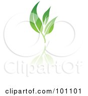 Royalty Free RF Clipart Illustration Of A Green Leaf Logo Icon 6 by cidepix #COLLC101101-0145