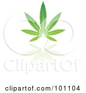 Royalty Free RF Clipart Illustration Of A Green Leaf Logo Icon 5