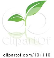 Royalty Free RF Clipart Illustration Of A Green Leaf Logo Icon 3