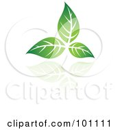 Royalty Free RF Clipart Illustration Of A Green Leaf Logo Icon 1