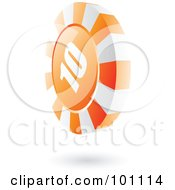 Royalty Free RF Clipart Illustration Of A 3d Orange Casino Roulette Chip by cidepix