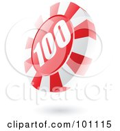 Royalty Free RF Clipart Illustration Of A 3d Red Casino Roulette Chip by cidepix