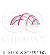 Royalty Free RF Clipart Illustration Of A Glass Dome Structure
