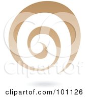 Royalty Free RF Clipart Illustration Of A Tan Spiral Galaxy Logo Icon by cidepix