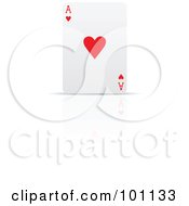 Royalty Free RF Clipart Illustration Of An Upright Ace Of Hearts Playing Card by cidepix