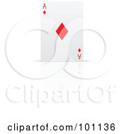 Royalty Free RF Clipart Illustration Of An Upright Ace Of Diamonds Playing Card by cidepix
