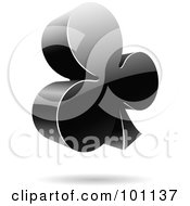 Royalty Free RF Clipart Illustration Of A Shiny 3d Clubs Logo Icon by cidepix