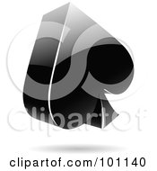 Royalty Free RF Clipart Illustration Of A Shiny 3d Spades Logo Icon