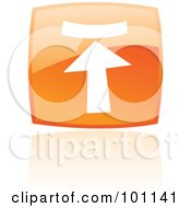 Royalty Free RF Clipart Illustration Of A Shiny Orange Square Upload Web Browser Icon by cidepix