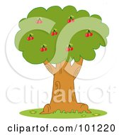 Royalty Free RF Clipart Illustration Of A Lush Cherry Tree by Hit Toon