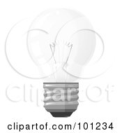 Royalty Free RF Clipart Illustration Of A Traditional Round Electric Light Bulb by Leo Blanchette