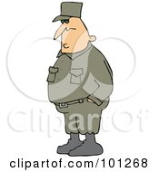 Royalty Free RF Clipart Illustration Of An Army Man Standing With His Hands In His Pockets by djart