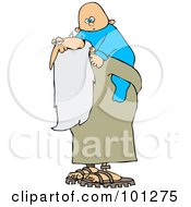 Royalty Free RF Clipart Illustration Of An Old Man Father Time Carrying A New Year Baby On His Back by djart