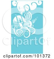 Royalty Free RF Clipart Illustration Of A Giant Squid Attacking A Ship by xunantunich