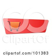 Royalty Free RF Clipart Illustration Of A Gradient Red Shopping Cart Website Button by oboy