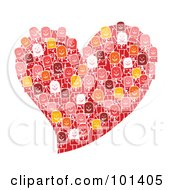 Royalty Free RF Clipart Illustration Of A Group Of Stick People On A Red Heart by NL shop