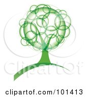 Royalty Free RF Clipart Illustration Of A Tree With Green Bubble Foliage by MilsiArt