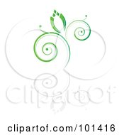 Royalty Free RF Clipart Illustration Of A Seedling Plant With A Reflection On White 3 by MilsiArt
