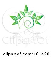Royalty Free RF Clipart Illustration Of A Seedling Plant With A Reflection On White 7 by MilsiArt