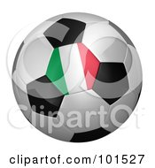 Royalty Free RF Clipart Illustration Of A 3d Italy Flag On A Traditional Soccer Ball