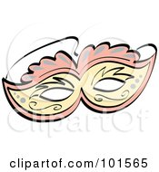 FOrnate Pink And Yellow Eye Mask