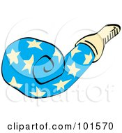 Blue Party Favor Noise Maker With Stars