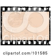 Royalty Free RF Clipart Illustration Of A Grungy Blank Film Frame With Distress Marks