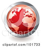 Royalty Free RF Clipart Illustration Of A Red Globe App Icon by michaeltravers