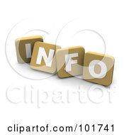 Royalty Free RF Clipart Illustration Of 3d Tan Blocks Spelling INFO by Jiri Moucka