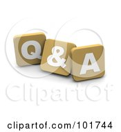 Royalty Free RF Clipart Illustration Of 3d Tan Blocks Spelling QA by Jiri Moucka