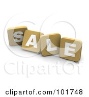 Royalty Free RF Clipart Illustration Of 3d Tan Blocks Spelling SALE by Jiri Moucka