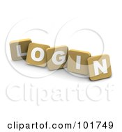 Royalty Free RF Clipart Illustration Of 3d Tan Blocks Spelling LOGIN by Jiri Moucka