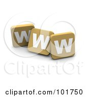 Royalty Free RF Clipart Illustration Of 3d Tan Blocks Spelling WWW by Jiri Moucka