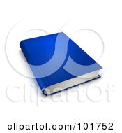 Royalty Free RF Clipart Illustration Of A Blue 3d Hardback Book